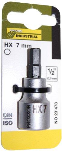Proxxon 23478 Innensechskanteinsatz 7 mm, 55 mm, 1/2 Zoll