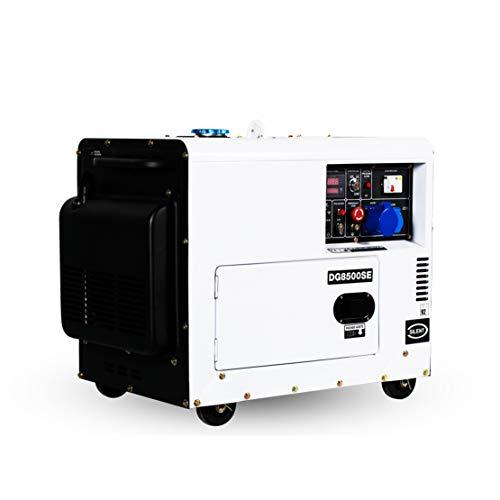 HIOD Stromerzeuger Notstromaggregat Dieselgeneratoren 5kw / 6kw, Ruhig Notstromaggregat Laufen 8h,3-Phase