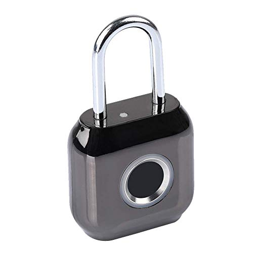 szlsl88 candado antirrobo con huella dactilar inteligente, cerradura de puerta impermeable USB con cierre de seguridad de desbloqueo rápido, negro, Tamaño libre