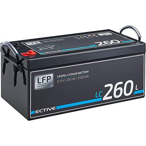 ECTIVE LC260L 12V 260Ah 3328Wh LiFePo4 Lithium-Eisenphosphat Versorgungs-Batterie mit BMS