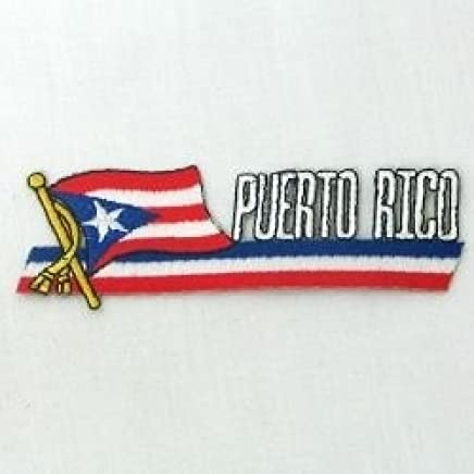 TURKS /& CAICOS SIDEKICK WORD Country Flag IRON-ON PATCH CREST BADGE 1.5 X 4.5 IN
