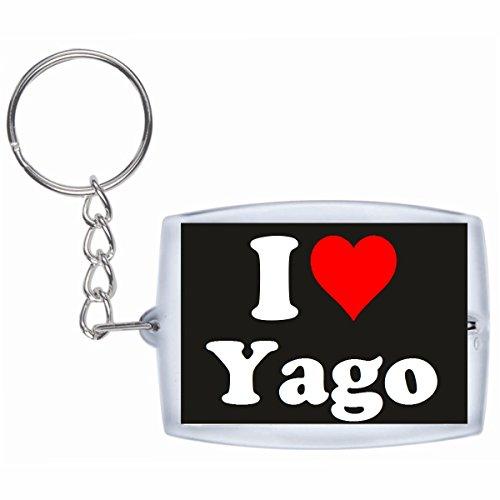 """EXCLUSIVO: Llavero """"I Love Yago"""" en Negro, una gran idea para un regalo para su pareja, familiares y muchos más! - socios remolques, encantos encantos mochila, bolso, encantos del amor, te, amigos, amantes del amor, accesorio, Amo, Made in Germany."""