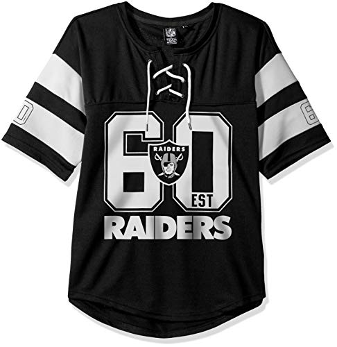 Ultra Game NFL Las Vegas Raiders Womenss Penalty Box Jersey, Team Color, X-Large