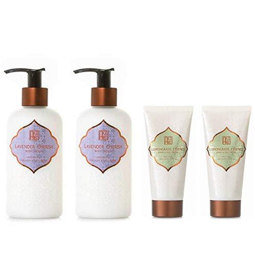 AKALIKO Lavender Cherish Body Lotion and Lemongrass Essence Hand Cream - Set B.