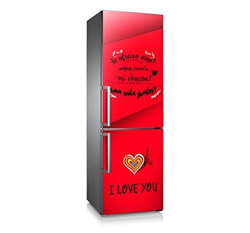 Vinilo para nevera | Stickers Fridge | Pegatina Frigo | Love You (185x60)