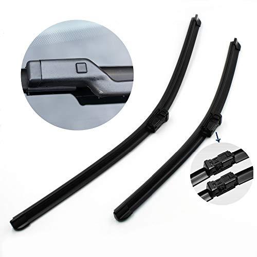 JNSMQC ruitenwissers voor voorruit, rubber, zacht, voor Volkswagen Jetta Golf 5 6 Passat Magotan CC Scirocco2018
