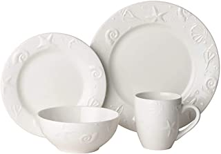 Thomson Pottery 16pc Embossed Shell Dinnerware Set One Size
