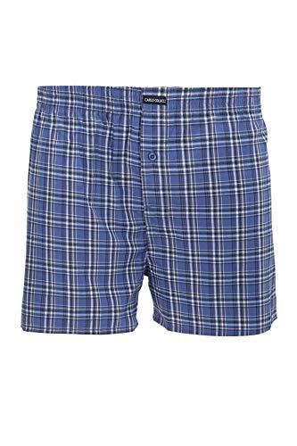 Carlo Colucci Herren Unterwäsche 2 Pack Boxer-Short GEWEBT, Twin Pack, Farbe: Blau, Größe: XXL
