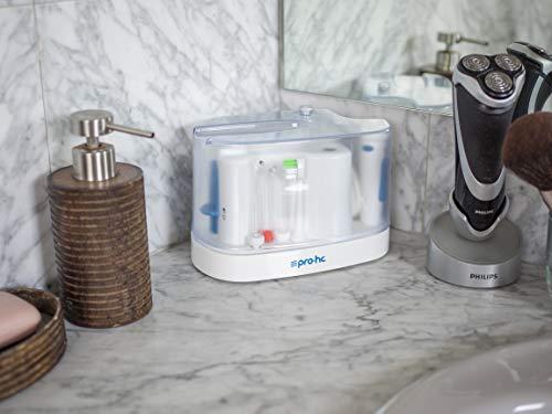 Idropulsore Premium Pro-HC Water System - Sistema di igiene professionale compatto - Doccia orale con cavo extra-lungo - 11 testine multifunzione - 5 livelli di potenza - 1100 ml capacitá