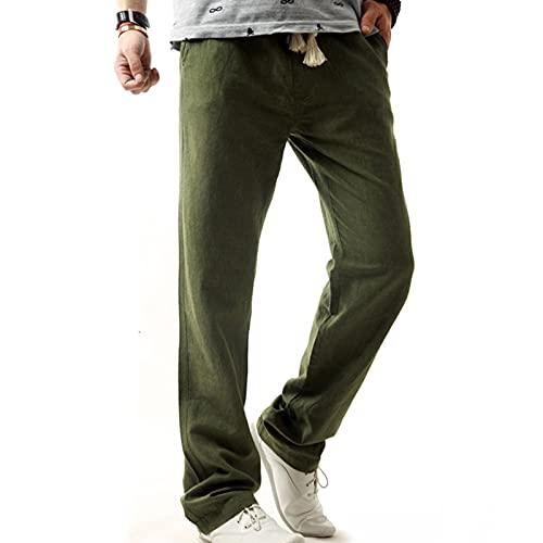 AOCRD Pantalones largos de deporte para hombre, para correr, gimnasio, fitness, actividades al aire libre, fitness, senderismo, etc., verde, XL