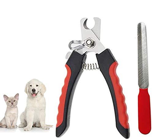 BTkviseQat Krallenschere für Hunde, Katzen und Kleintiere,Krallenzange,Edelstahlklingen Krallenschneider mit Safety Guard,Nagelschere Hunde, Krallenpflege für Hunde