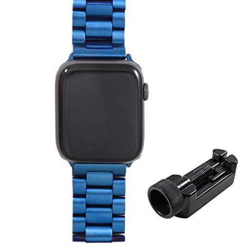 Banda para Apple Watch 6 5 4 3 2 44 mm 40 mm 42 mm 38 mm Correa de pulsera de acero inoxidable de metal Correa para accesorios de la serie iWatch