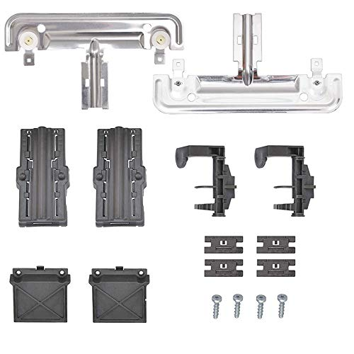 W10712395 Dishwasher Rack Adjuster Metal Kit Compatible with Kenmore Whirlpool KitchenAid Replace W10250159 W10350375 AP5957560 W10712395VP PS10065979