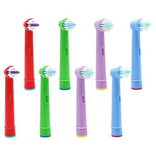 YanBan per Oral B Testina spazzolino per bambini, Testine di ricambio spazzolino elettrico per bambini Braun, per 3D White, Precision Clean, confezione da 8