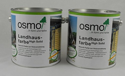 Osmo Spar-Set 2x Landhausfarbe Nr. 2308 Nordisch rot 2,5l, Holzanstrich