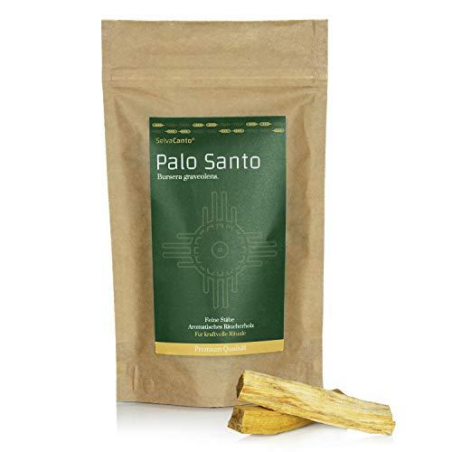 SelvaCanto® - Palo Santo Sticks - heiliges Holz   Perfekt für kraftvolle Zeremonien & befreiende Reinigungsrituale   aromatisches Räucherholz   50g   (19,90€/100g)