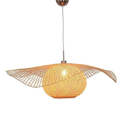 Suge Bamboo Weave Pendant Light Shade Wicker Bamboo Chandelier Rattan Lampshade Hand Weaving Lamp E27 Base Ceilings Lighting for Living Room Bedroom Kitchen Restaurant Hotel Fixture