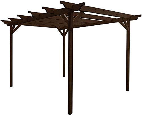 Talladas kits del gazebo gazebo de jardín de madera pérgola kits, 1.8m 1.8mx,Brown