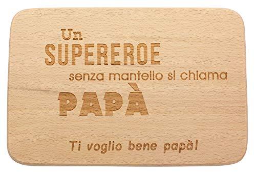 Spruchreif PREMIUM QUALITÄT 100% EMOTIONAL Tabla de madera para desayuno con grabado · Regalos para papá · Tabla de madera con corte de corazón · Regalo para el Día del Padre