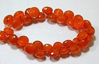 "Jewel Beads Natural Beautiful jewellery Carnelian Faceted Beads Onion Shape 11x12.mm 8.5""InchesCode:- JBB-46754"