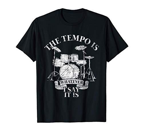 Baterista Músico Tambores Regalo Percusión Batería Camiseta