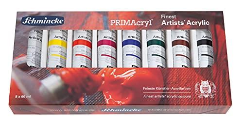 Schmincke - PRIMAcryl - Lot de peinture acrylique - 8 tubes de 60ml