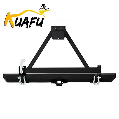 Rear Bumper For 1987-1996 Jeep Wrangler YJ 1997-2006 TJW/Tire Carrier And D-Rings -You will receive two packages