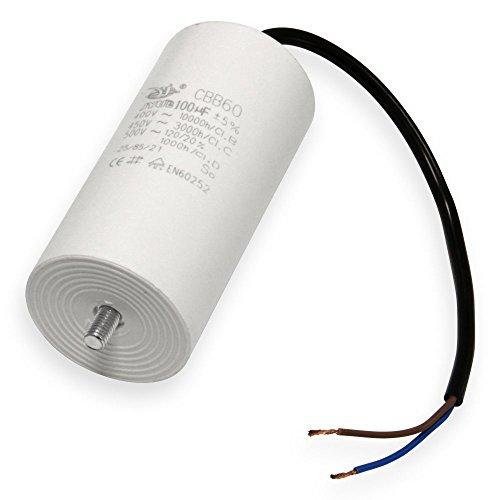 Kondensator 20 µF uF mit 25cm Anschlußkabel Anlaufkondensator Motorkondensator 450V Kondensatoren