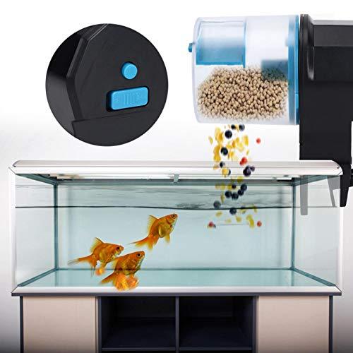 KUIDAMOS Alimentador automático de Acuario con botón de sintonización, Tres Modos de...