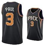 XZDM Camiseta De Baloncesto, Chris Paul # 3, Camiseta De Baloncesto De Los Phoenix Suns para Hombre, Chaleco Deportivo Retro, Camiseta Deportiva black2-XL