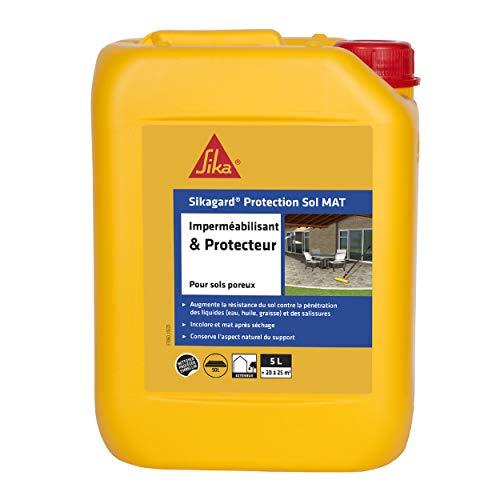 Sikagard Protection Sol MAT, Hydrofuge, Imperméabilisant effet mat pour sols (Pavés, dalles, pierres), 5L, Incolore