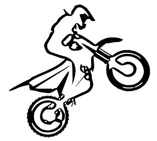 Generic 128/1/2 Autocollant pour Moto Motif Motocross 10 cm, 15 cm, 20 cm, 25 cm - 20cm - Gris foncé Mat
