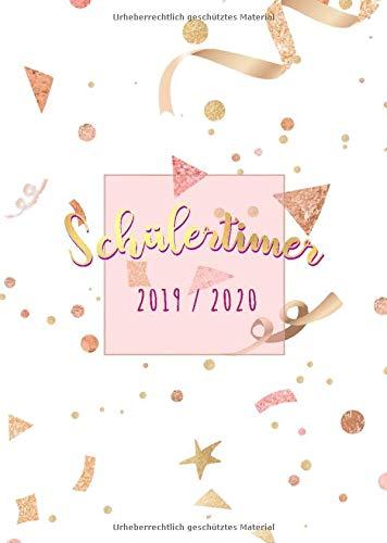 Schülertimer 2019 / 2020 Confetti: Größe: A5   Schulkalender   Zeit für Ordnung   Der Schulplaner von August 2019 bis August 2020 für das neue Schuljahr