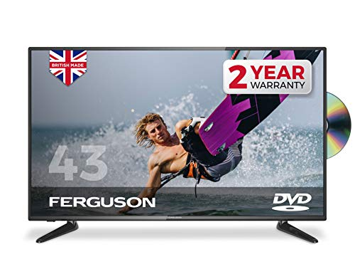 "Ferguson 43"" Full HD LED TV with DVD Player, Freeview T2 HD and USB,Black"
