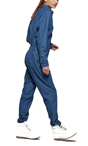OnePiece Damen Momentum Jumpsuit, Blau (Denim Blue), 38 (Herstellergröße: M) - 4