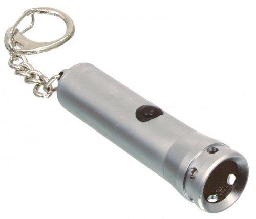 5 DEL Mini Lampe de Poche Porte Clés Torche Aluminium Keychain avec piles Format de poche