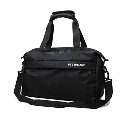 LEIJINGZI Separada bolsa de deporte húmedo y seco, la maleta con la sección de calzado deportivo y correa de hombro desmontable, for el viaje de fin de semana bolso del hombro durante la noche