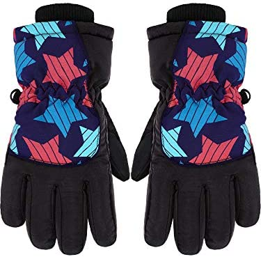 Kids Winter Snow Waterproof Warm Ski Gloves Unisex Printed Mittens for Cold Weather 5 10 Years product image