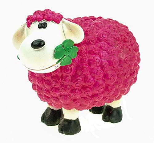 Kremers Schatzkiste Schaf Molly Glück Spardose in Pink 14 cm Deko Sparschwein Sparbüchse