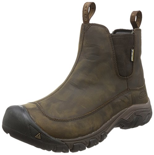KEEN Men's Anchorage 3 Pull On Waterproof Boot, Dark Earth/Mulch, 10.5 M US