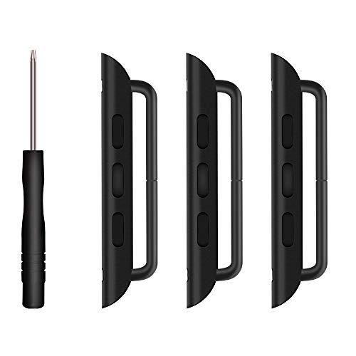 Coholl Lugs/Connettori/Chiusure per Apple Watch 38 mm/40 mm/42 mm/44 mm, Adattatore di connessione in Metallo sostituibile Compatibile con iWatch Serie 5/4/3/2/1,(42/44mm)