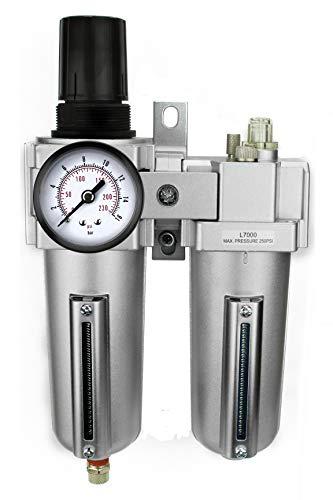 1/2' Compressed Air in Line Filter, Regulator, Oiler Lubricator, Combo
