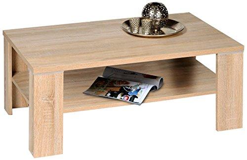 Alfa-Tische M2264 Santos Table Basse avec chêne Sonoma avec sous-Plateau 110 x 70 cm