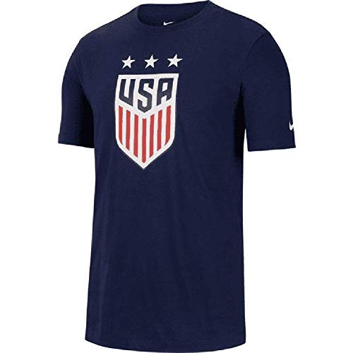 Nike Mens USA Soccer Crest Tee (Large, Navy)
