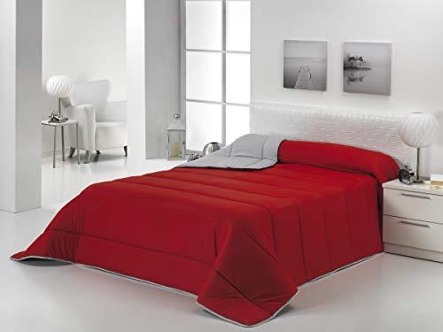 Energy Colors Textil - Hogar - Oslo - Edredón Nórdico Otoño Invierno Reversible 350 g Fibra Hueca Alta Densidad 240_x_260_cm(Cama 150) (Rojo - Negro)
