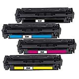 Bubprint 054H - Tóner compatible con Canon 054 054H 054 H i-Sensys LBP-621Cw LBP-623Cdw LBP-640C MF640C MF641Cn MF641Cw MF642Cdw MF644Cdw MF644Cdw MF645Cx 4 Pack de 4