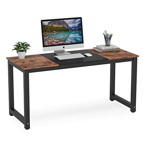 Tribesigns Computer Desk, 55 inch Large Office Desk Computer Table Study Writing Desk for Home...