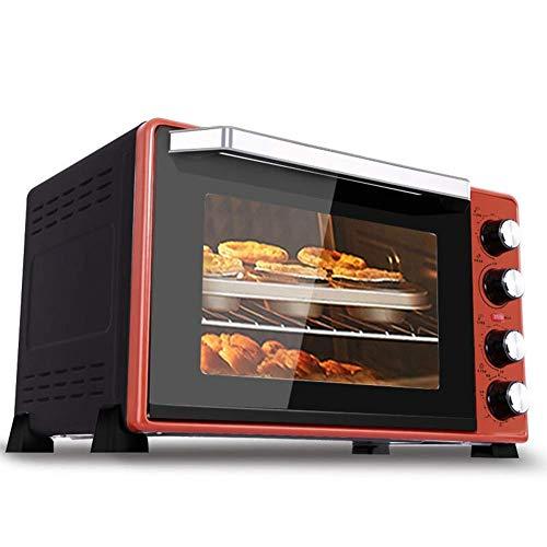 mini backofen grill 45L elektrischer Mini-Backofen mit Doppelkochplatte, mehrere Kochfunktionen & Grill, einstellbarer Temperaturregelung, Timer -2000W