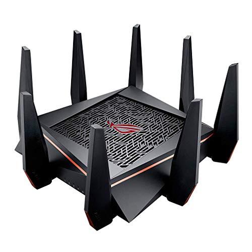 XMZWD ASUS GT - AC5300M Tri- Band 4 X 4 Gigabit Wireless Gaming Router, (con Red Privada De 8 Puertos Gigabit Gamers, con Procesador De Cuatro Núcleos, Agregación De Enlaces, WAN Dual)