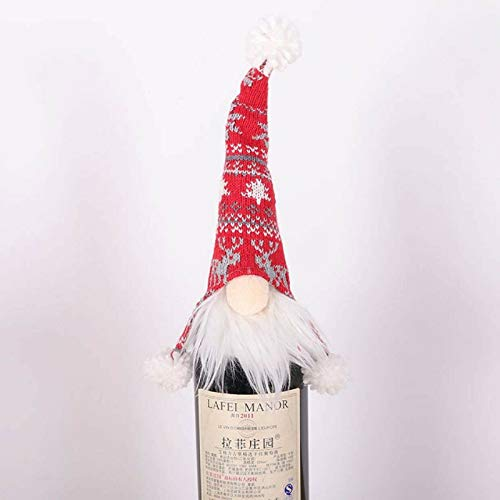 JHYS Christmas Decoration Faceless Doll Wine Bottle Holder,Wine Bag for Christmas Home Decor Home & Garden (2pc) (A)